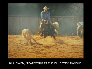 "Bill Owen, ""Teamwork at the Bluestem Ranch"" (Teamwork at the Bluestem Ranch)"