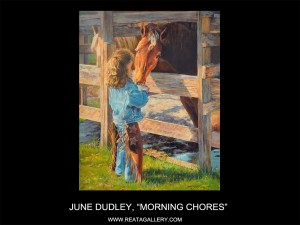"June Dudley, ""Morning Chores"""