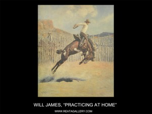 """Will James, """"Practicing At Home"""""""