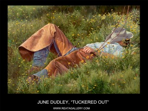 "June Dudley, ""Tuckered Out"""