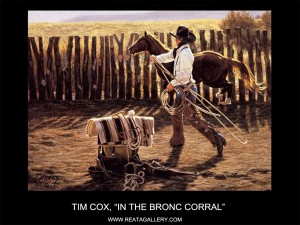 "Tim Cox, ""In the Bronc Corral"""